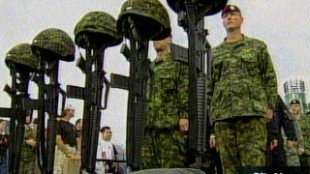 Vigil Held For Fallen Soldiers At The Ex