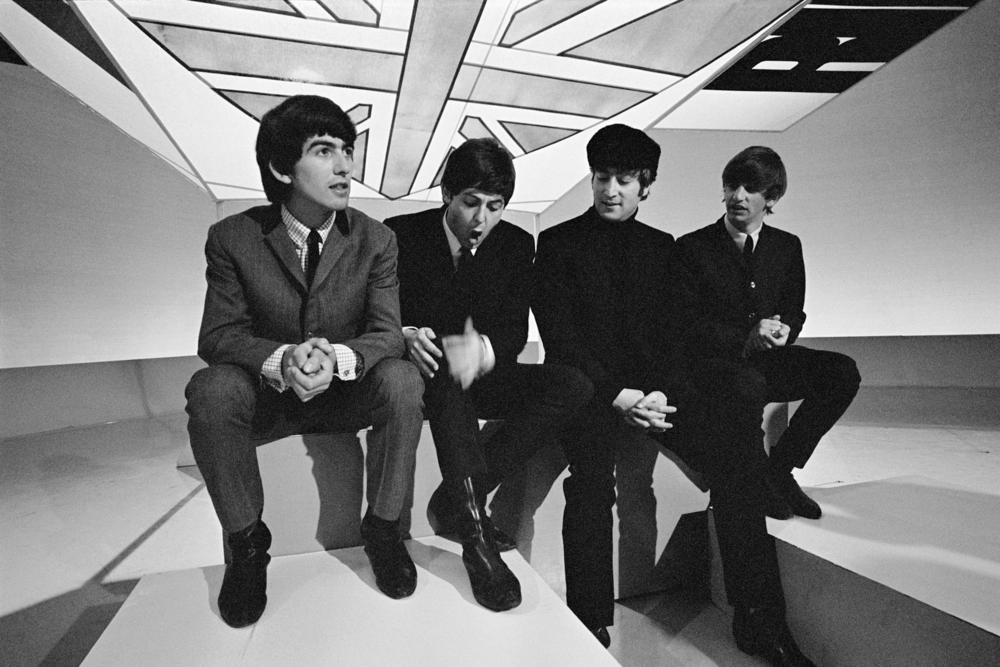 The Beatles visit a television studio in 1964. GETTY IMAGES/Mark and Colleen Hayward
