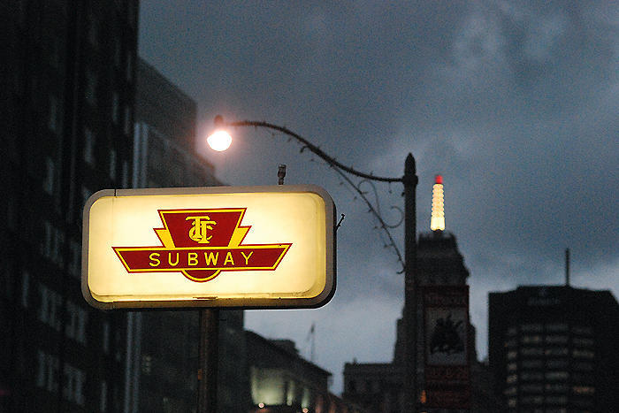File photo of a TTC subway sign. Courtesy of Aaron Miller.