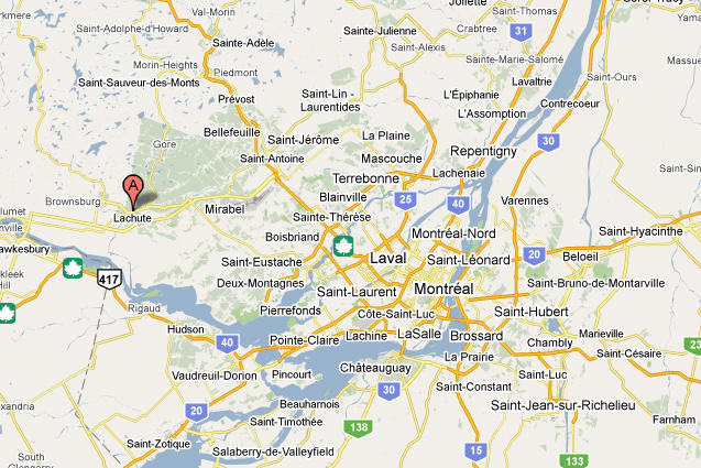 Lachute, Quebec map on