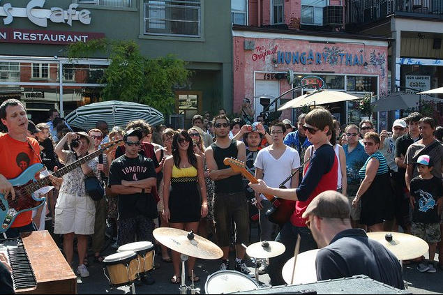 A scene from Pedestrian Sundays in Kensington Market. FACEBOOK