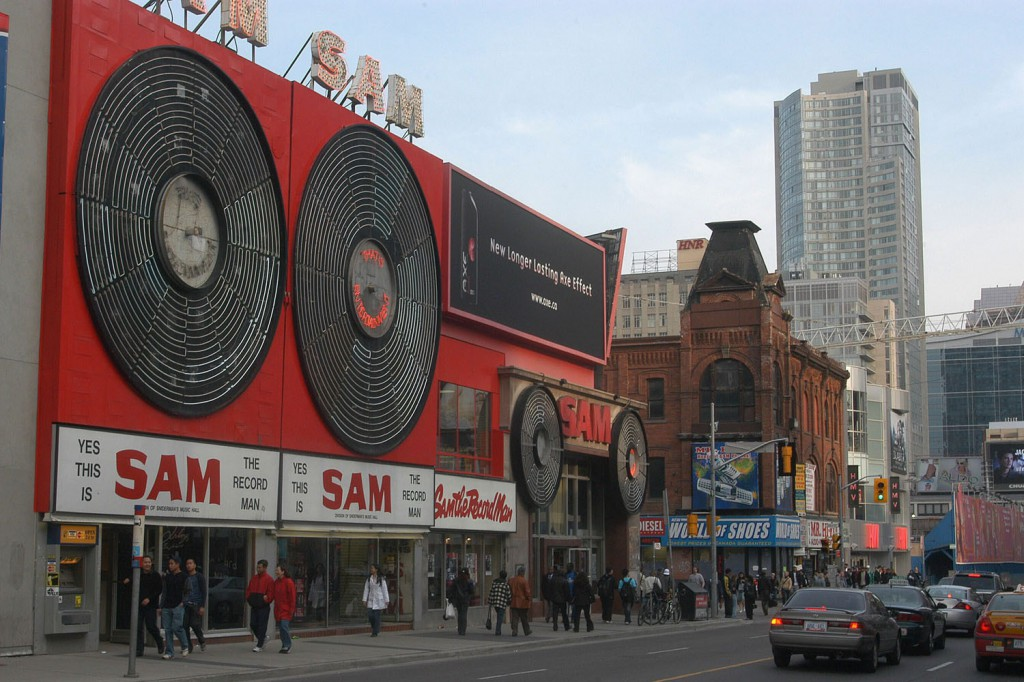 File photo of the Sam The Record Man music store on Yonge Street. THE CANADIAN PRESS/Don Denton