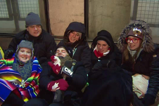 Lady Gaga fans camp out in Toronto snowstorm