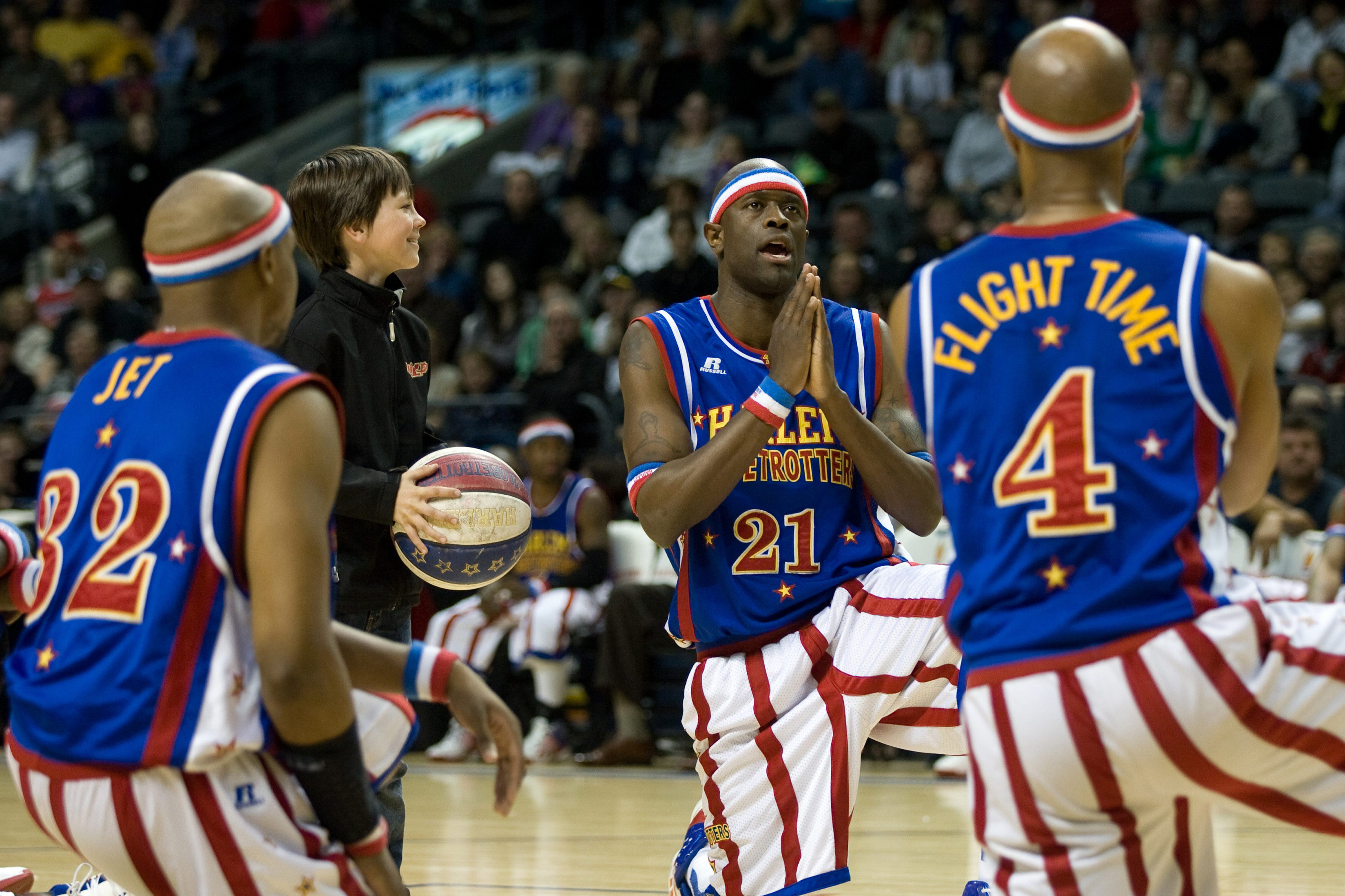 The Harlem Globetrotters at the John Labatt Centre in London, Ont., in 2013. THE CANADIAN PRESS/Mark Spowart.