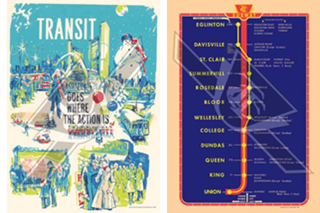 Toronto Subway Map Poster.Vintage Ttc Poster Map For Sale