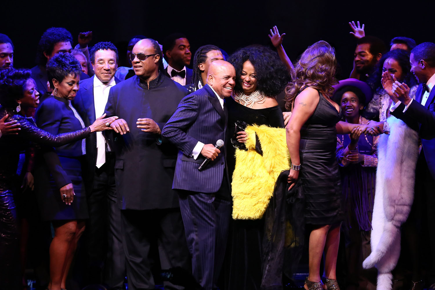 Diana Ross Smokey Robinson Hit Red Carpet For Broadway Opening Of