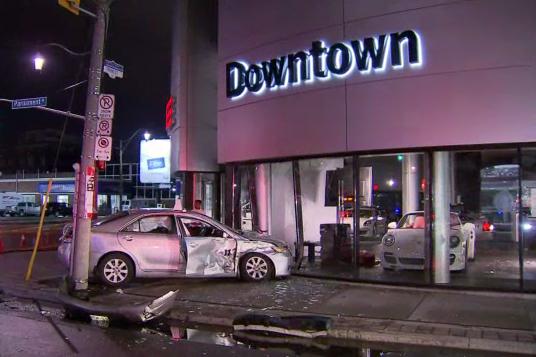 Car Crashes Into Porsche Dealership Citynews Toronto