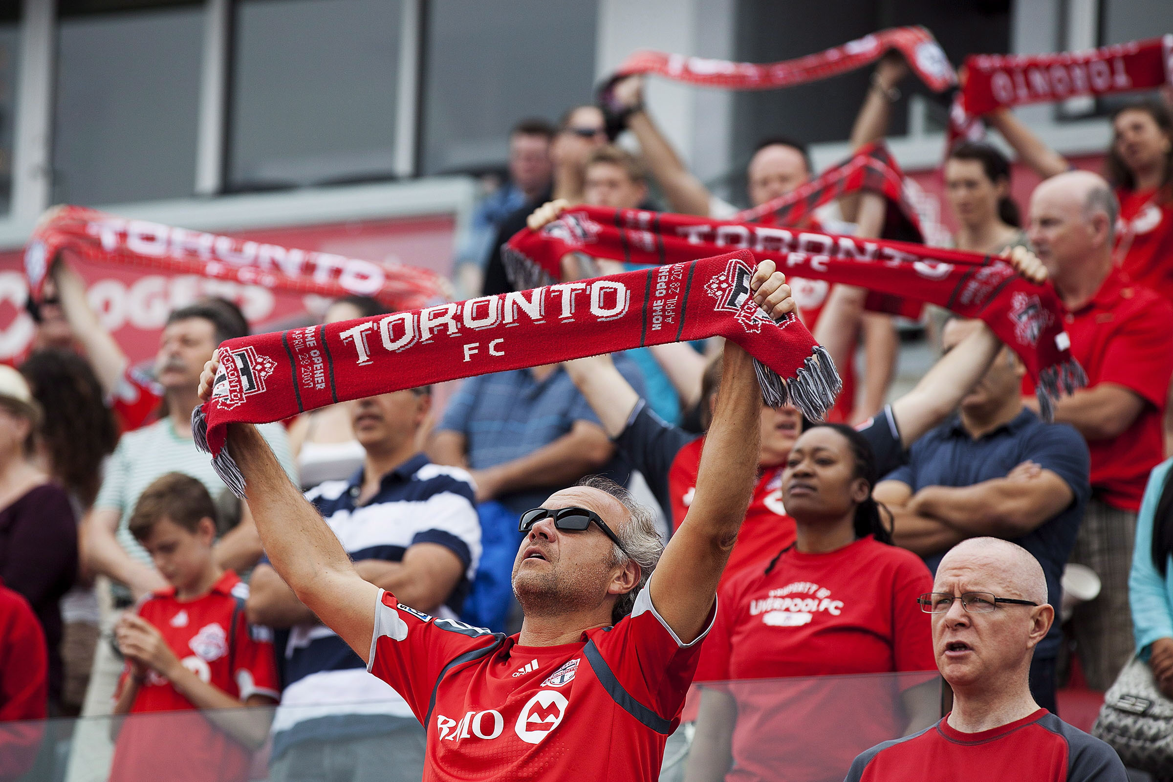 In this 2013 file photo, Toronto FC fans show their support as the ...