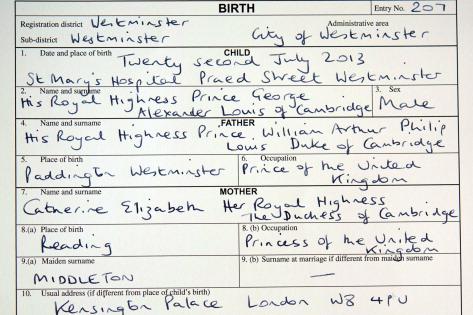 Prince George\'s birth now official - CityNews Toronto