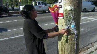 Sunthareswary Sachchithananthan visits a memorial on Aug. 14, 2013 after her cousin was killed in a crash. CITYNEWS.