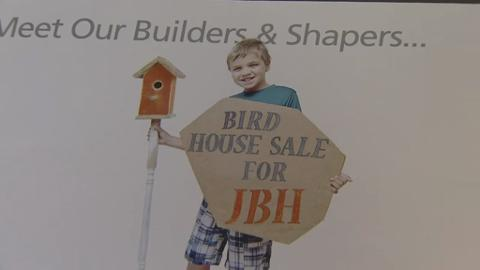 Outstanding Boy 7 Makes And Sells Bird Houses For Charity Download Free Architecture Designs Scobabritishbridgeorg