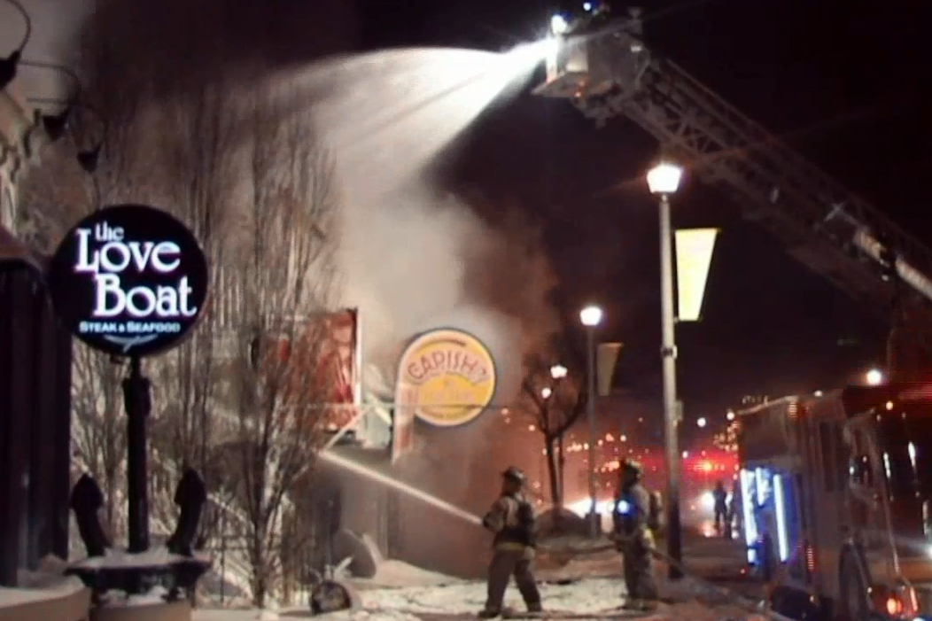 niagara fire falls citynews clifton firefighters hill destroys several stores battle jan near