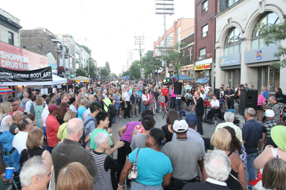 StreetFest on Queen Street. COURTESY: Beaches International Jazz Festival