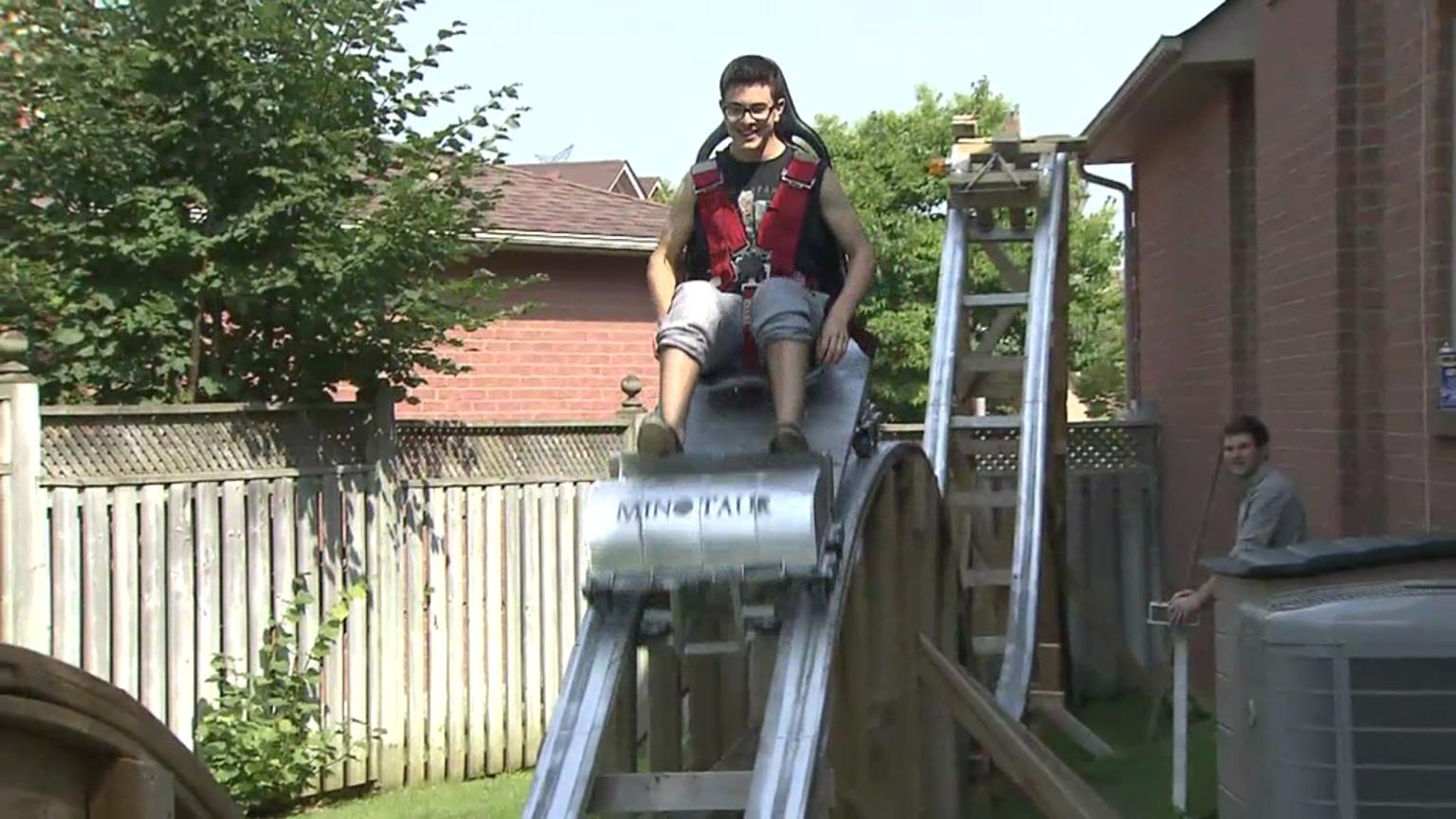 thornhill teen designs backyard roller coaster citynews toronto