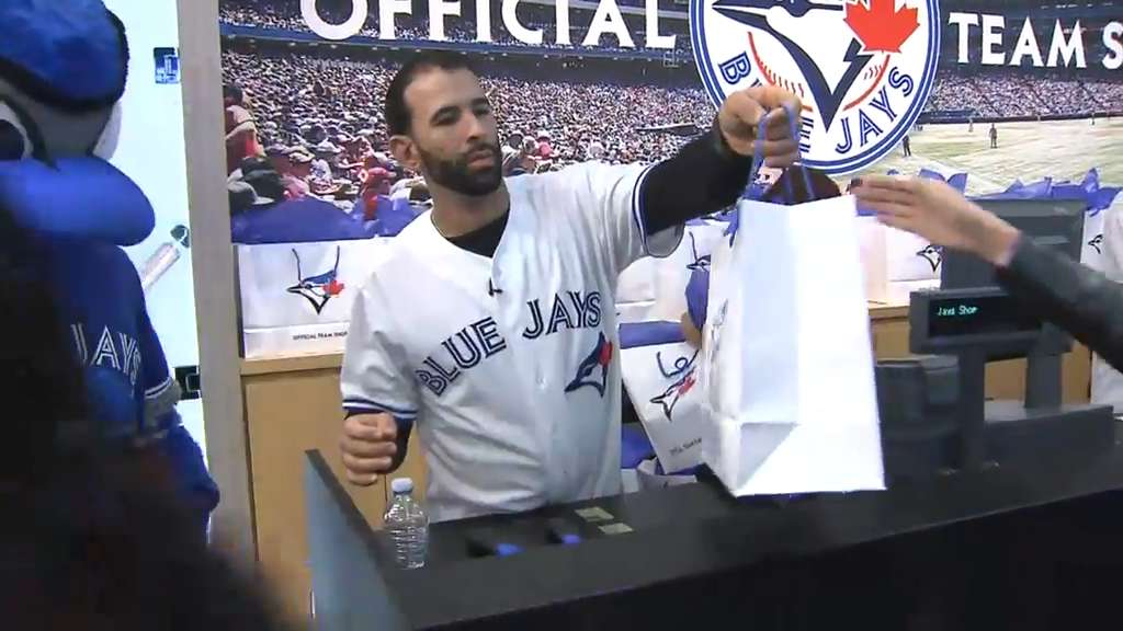 buy online a3ebb c8c76 Jose Bautista on important homestand, new Blue Jays store