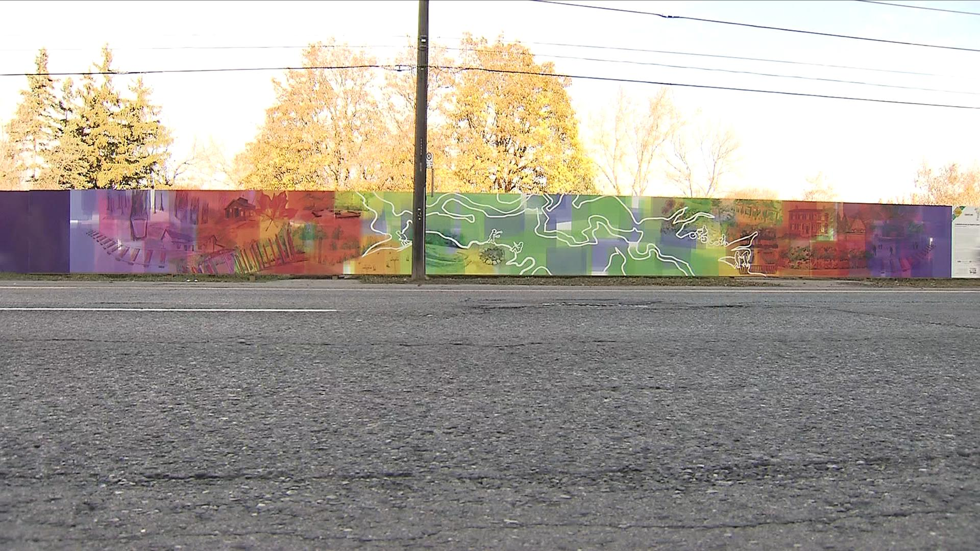 A mural at 700 Sheppard Ave. W. is a collection of memories of North York resident. It was painted by artist Beth Dawson. CITYNEWS