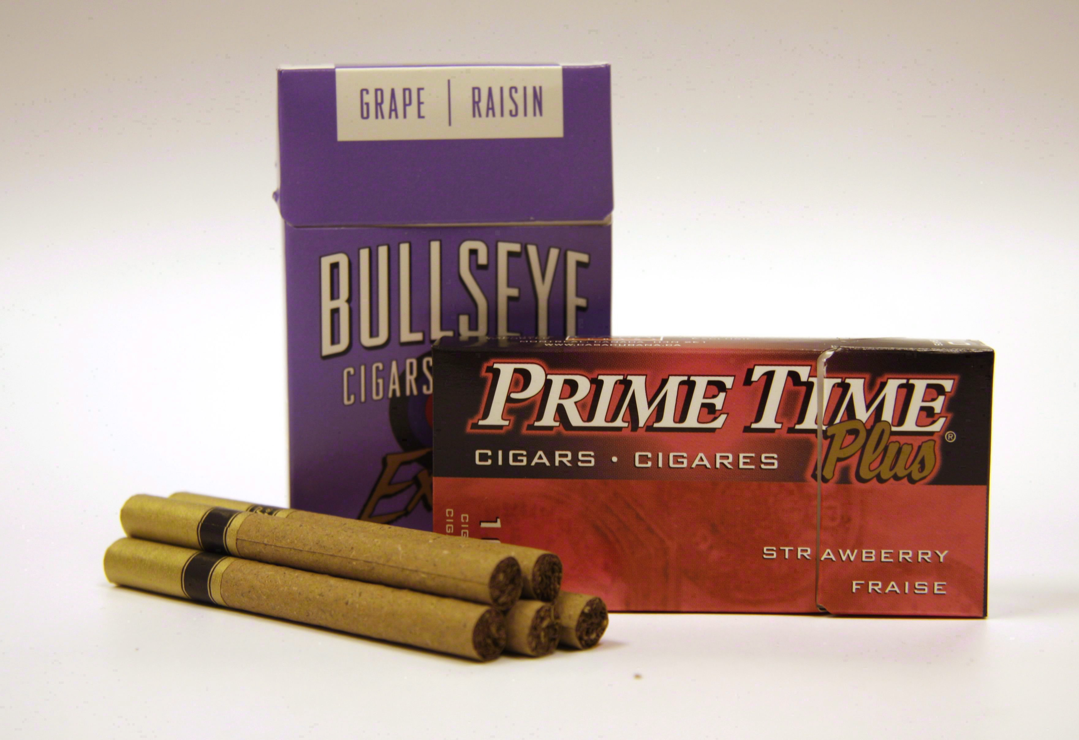 Packages of flavoured cigars are shown in an Oct. 3, 2010 photo. THE CANADIAN PRESS/Doug Ives.