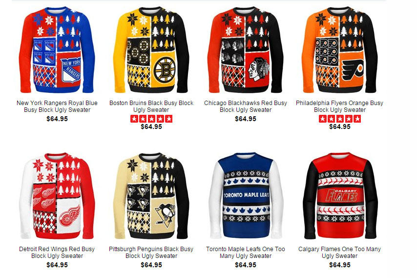 sale retailer e77ae ef2e3 New NHL ugly sweaters are so bad they're good