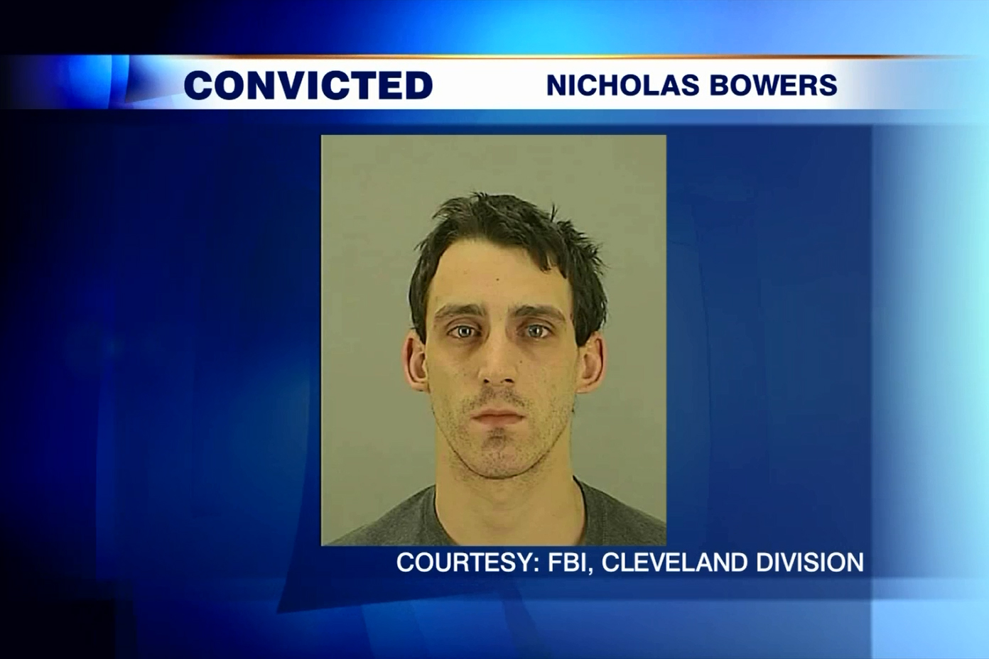 Nicholas Bowers was arrested at his home near Akron, Ohio, on Jan. 14, 2014 after he was found to be stalking a 12-year-old Toronto girl online. HANDOUT/FBI