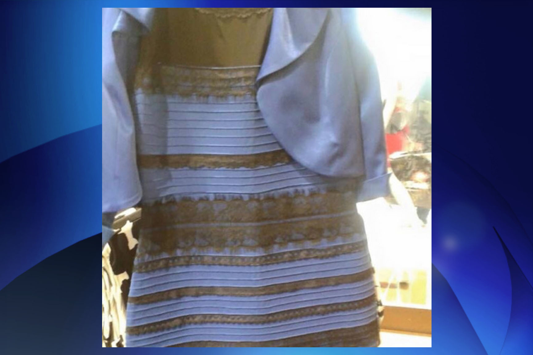 e91d32a746 The (blue and black) dress that is tearing the Internet apart