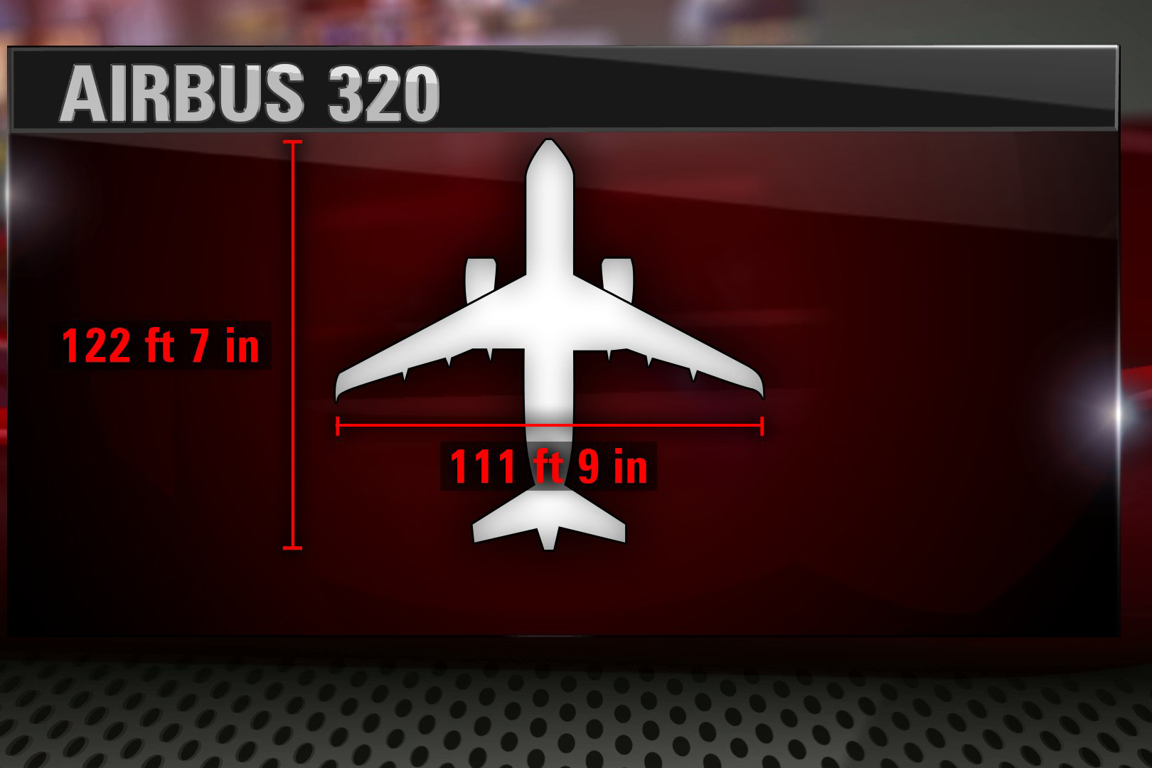 Dimensions of the Germanwings Airbus 320 that crashed in mountainous France on Tuesday. CNN
