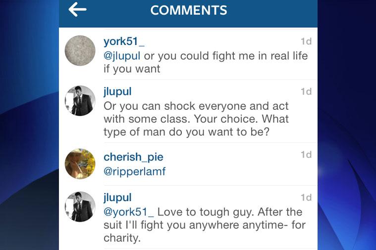 Toronto Maple Leafs' Joffrey Lupul responds on Instagram comments on Wednesday.  SOURCE: Instagram/jlupul