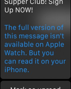 A preview of an html email as read on the Apple Watch. CITYNEWS/Mike Yawney