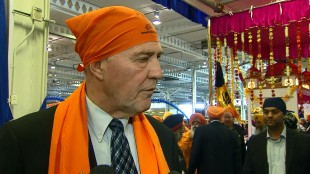 Former police chief Bill Blair talks to reporters at Khalsa Day celebrations in Toronto on April 26, 2015. CITYNEWS