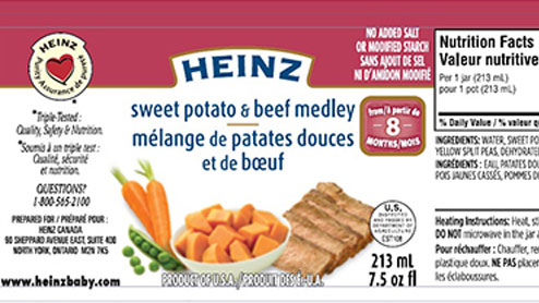 Heinz Sweet Potato Baby Food