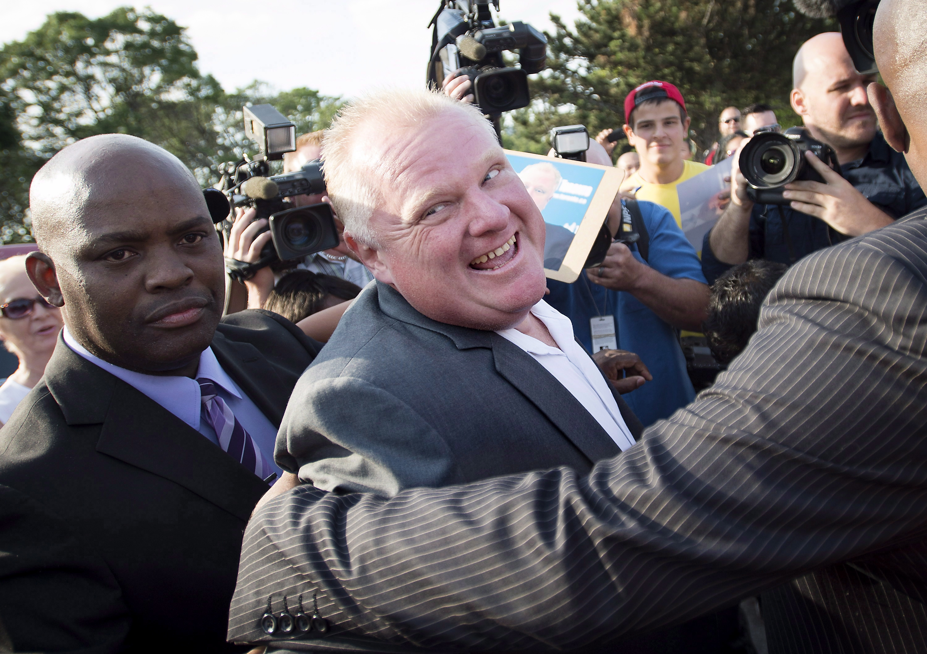 Rob Ford at Ford Fest in 2014. THE CANADIAN PRESS.