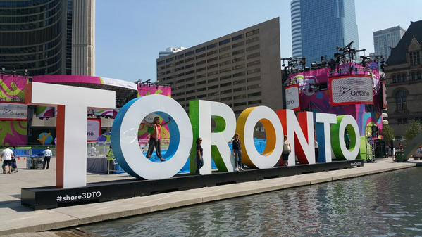 A 3D Toronto sign at Nathan Phillips Square for the Pan Am and Pam American Games. 680 NEWS/Momin Qureshi