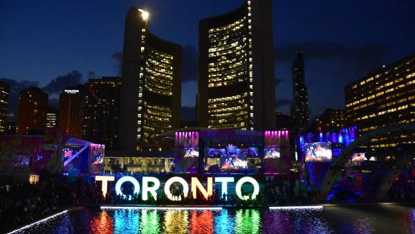A 3D Toronto sign at Nathan Phillips Square for the Pan Am and Pam American Games on July 10, 2015. TWITTER/YYZ_2010