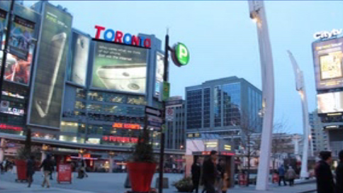 What the sign could look like if it was placed in Yonge and Dundas Square. (CityNews)