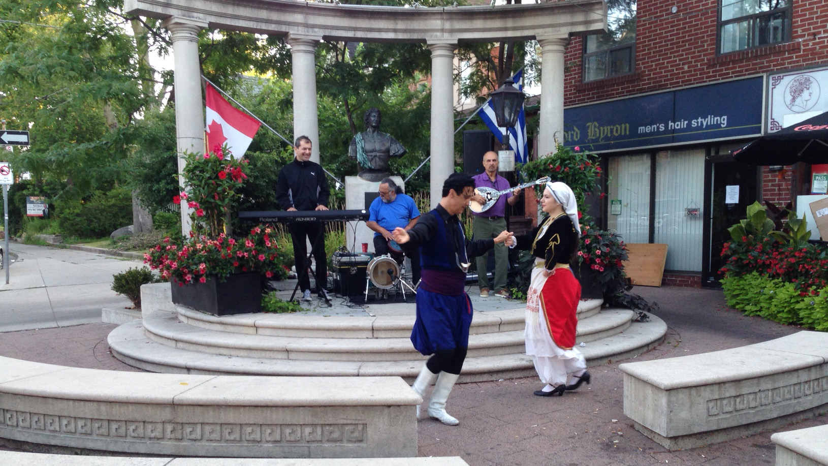 Dancers and musicians celebrate the Taste of the Danforth on Aug. 7, 2015. CITYNEWS
