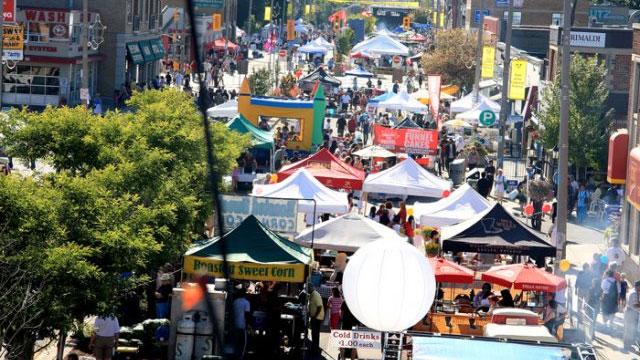 Taste of the Kingsway in Toronto. Photo via kingswaybia.ca.