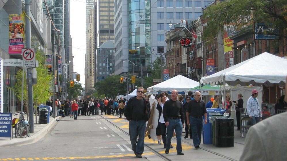 The TIFF Bell Lightbox street party on King Street in 2010.