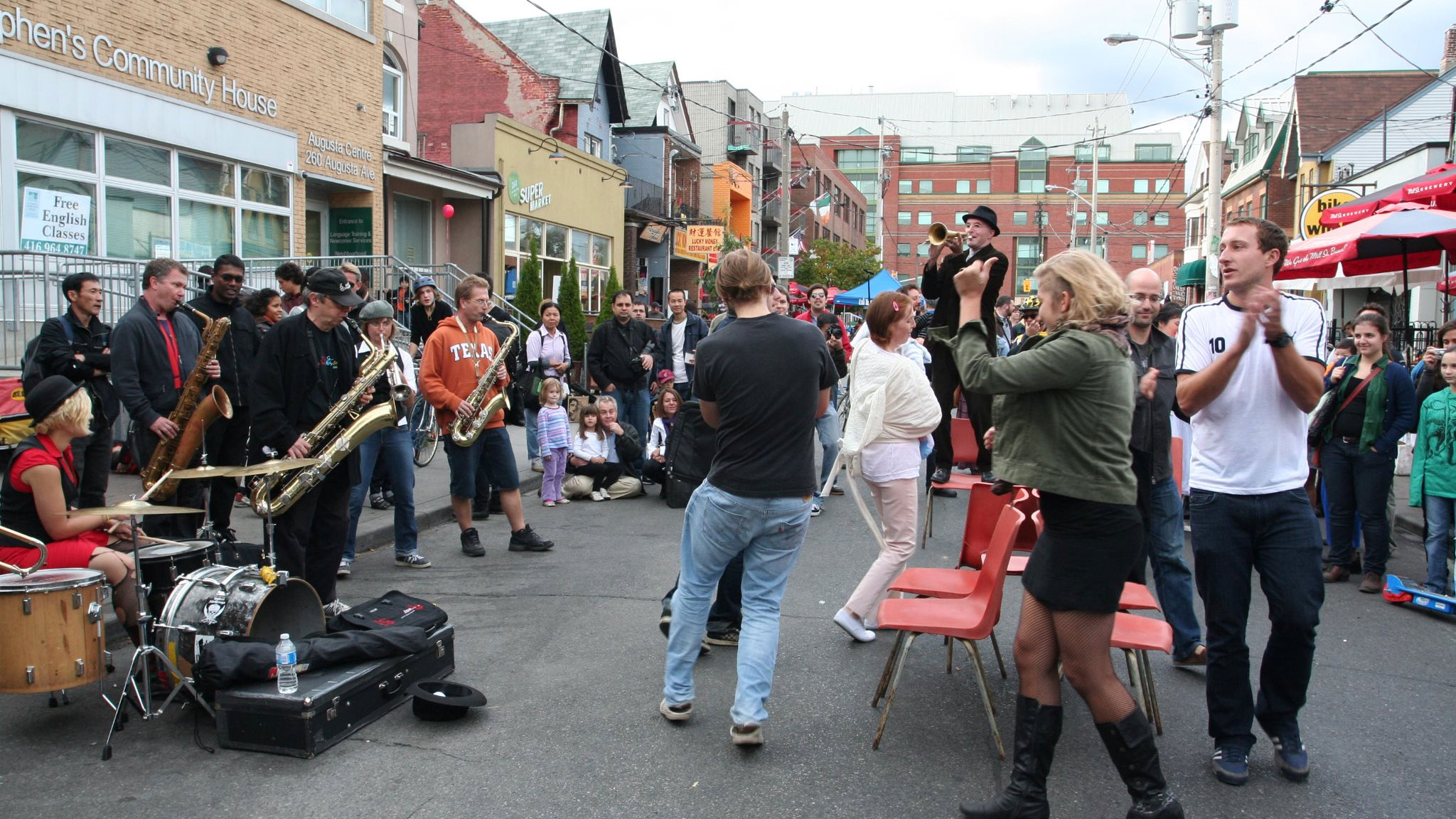 Jazz musicians play during Pedestrian Sundays in Kensington Market. FACEBOOK/Pedestrian-Sundays-in-Kensington-Market
