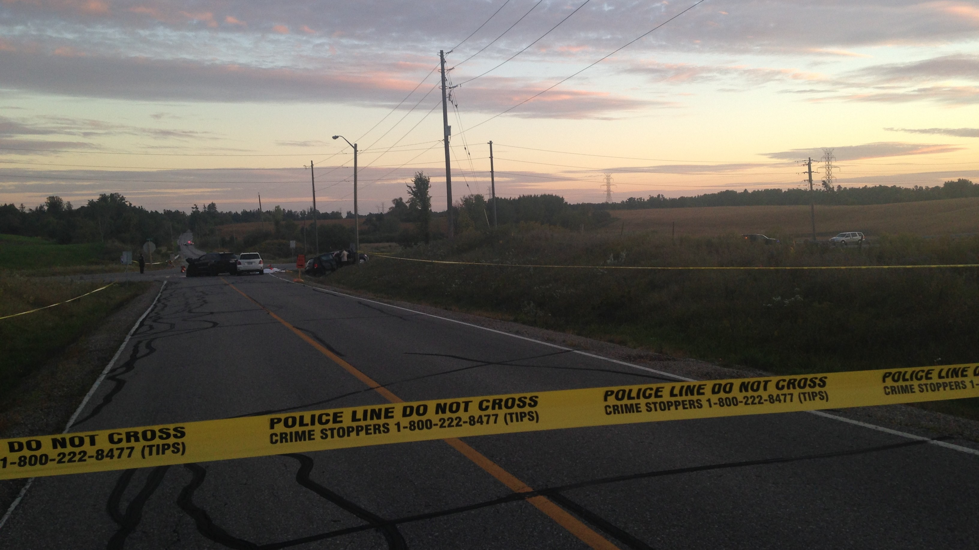 Four people were killed in a multiple-vehicle collision in Vaughan on Sept. 27, 2015. CITYNEWS/Anna Vlachos