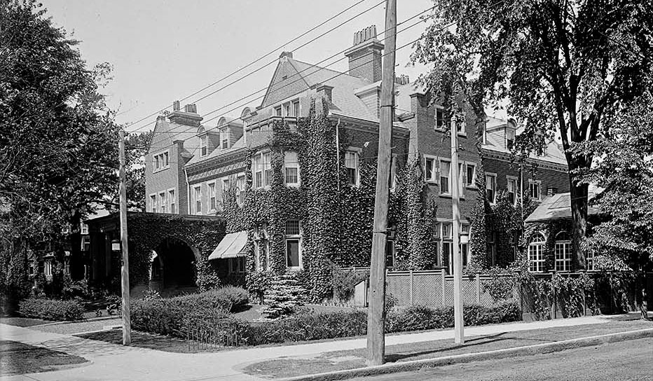 The home on Wellesley Street and Queen's Park Crescent East was originally owned by the Christie family. This photo was taken in 1919. CITY OF TORONTO ARCHIVES (Fonds 1231, item 414)