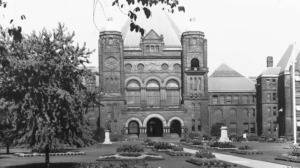 The Ontario Legislature buildings at Queen's Park, photo taken after 1900. CITY OF TORONTO ARCHIVES (Fonds 1568, Item 237)