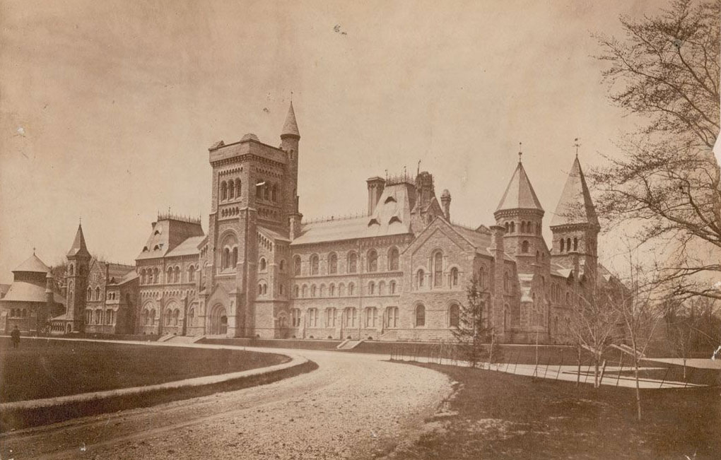 University College at King's College Circle, photo dates between 1885 and 1889, before the fire in 1890. CITY OF TORONTO ARCHIVES (Fonds 1478, Item 18)