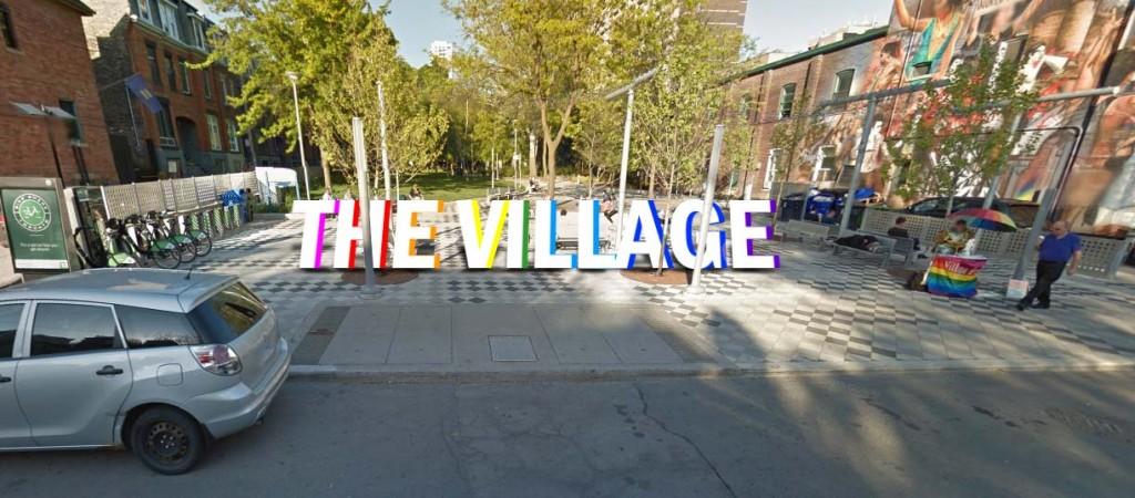 The Village Toronto sign