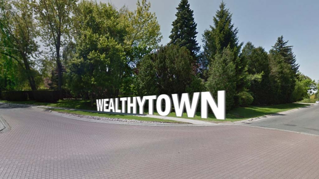 Wealthytown Toronto sign
