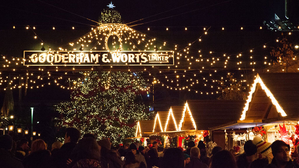Toronto Christmas Market at the Distillery District. Photo via torontochristmasmarket.com.