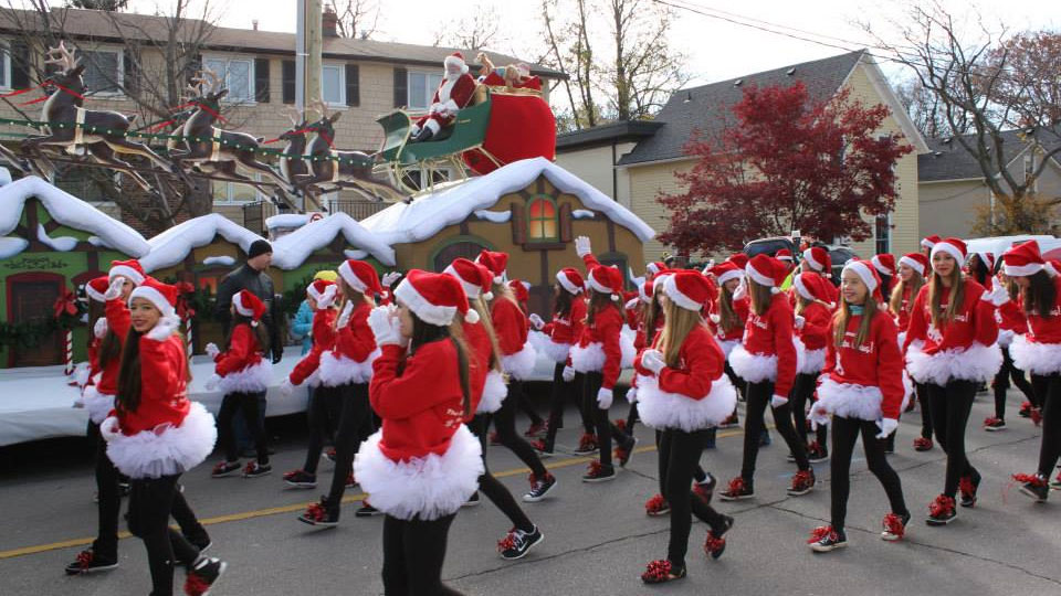 The Oakville Santa Claus Parade in 2014. Photo via Facebook.com/OakvilleSantaClausParade.
