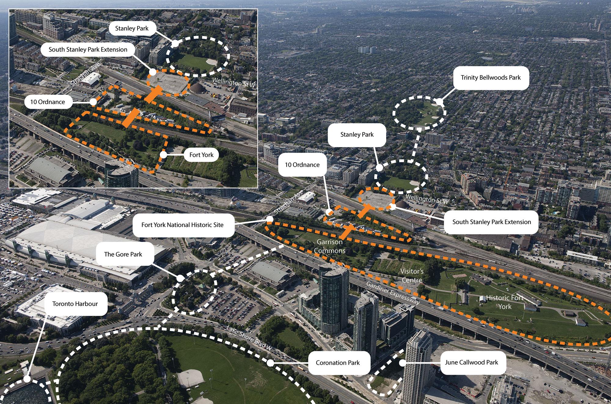 Toronto's proposed park network. BUILD TORONTO.