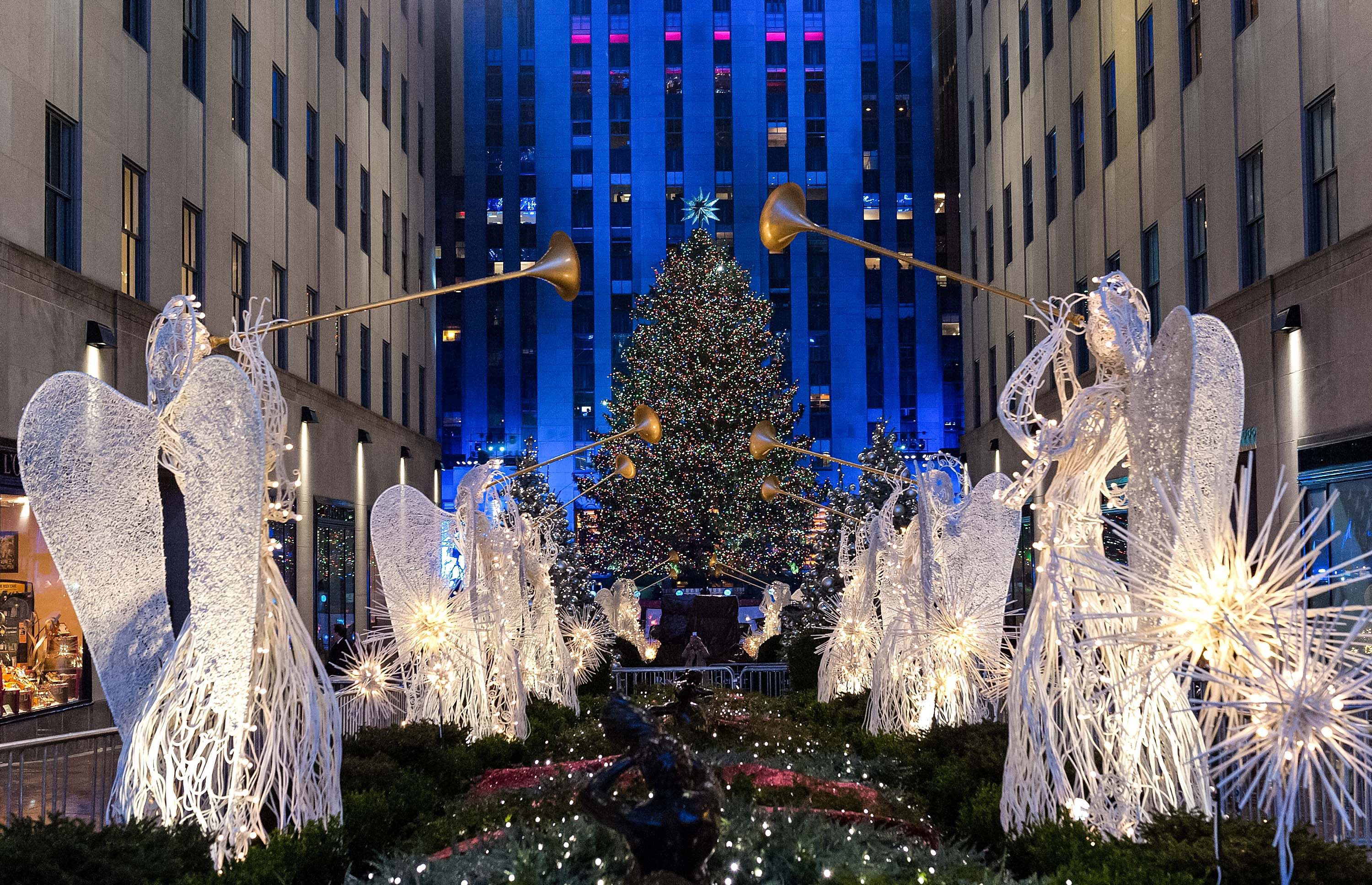 A view of the Rockefeller Center Tree during the 83rd Rockefeller Center Tree Lighting 2015 on Dec. 2, 2015 in New York City. GETTY IMAGES/WireImage/D Dipasupil/WireImage.
