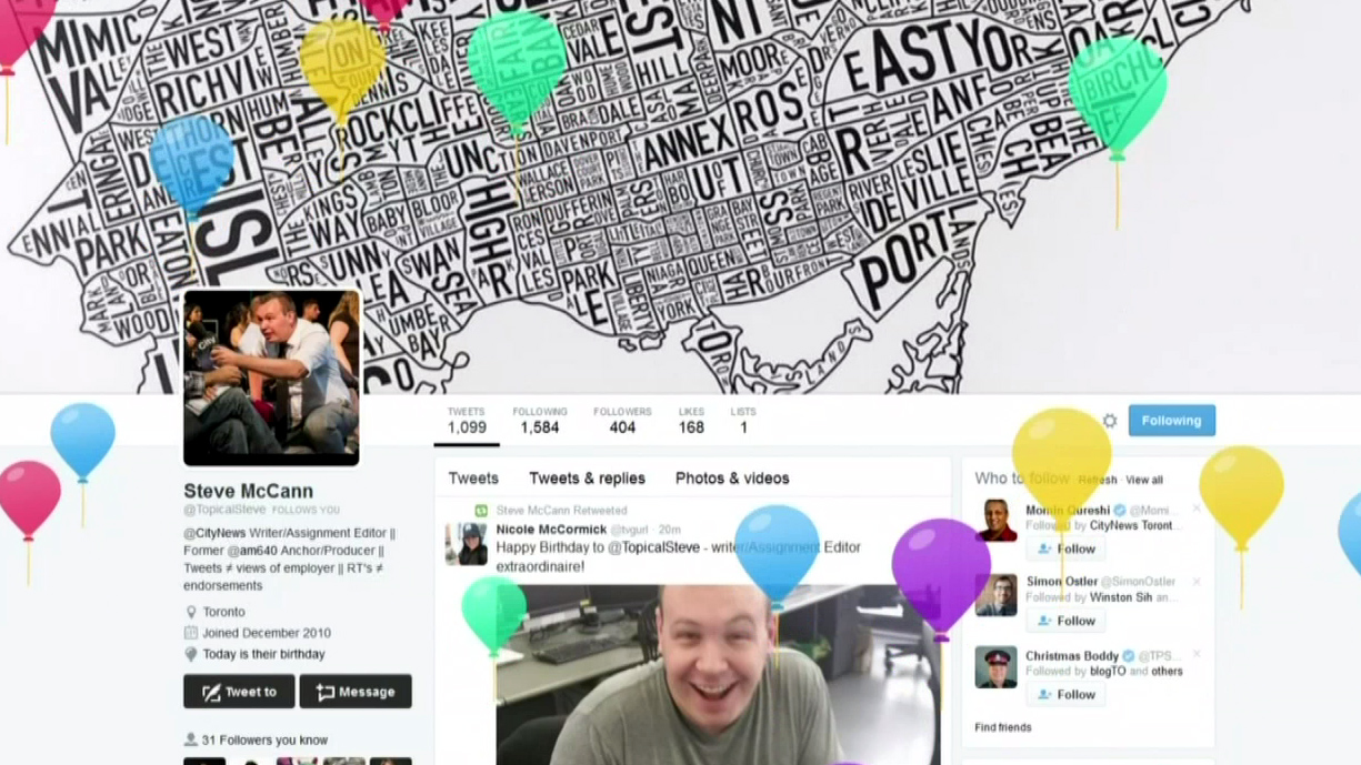 Trending CityNews Notices Twitters New Birthday Balloon Feature