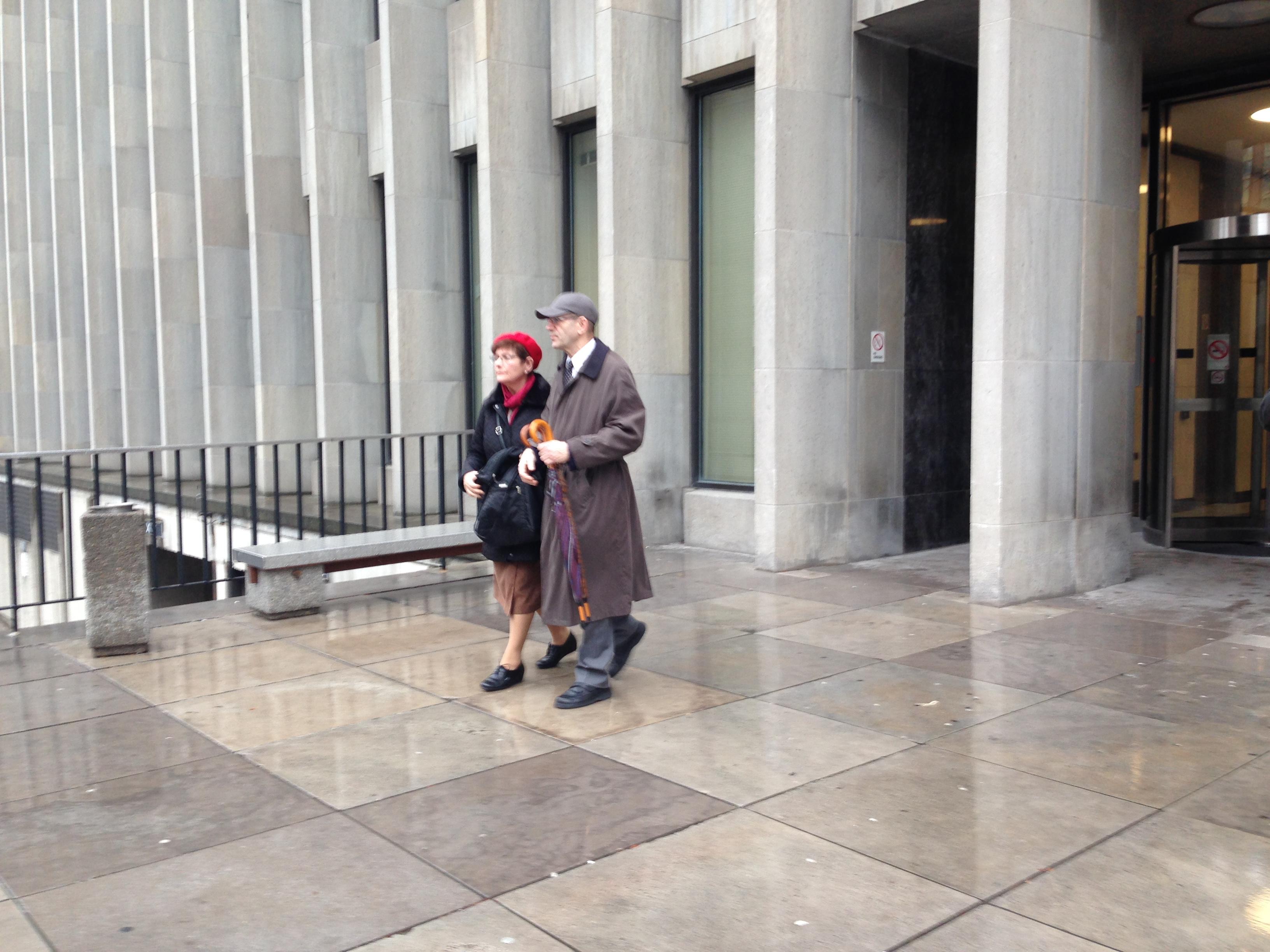 Tom Samson's parents, Gita and Uri Samson, leave court, on Dec. 21. 2015. CITYNEWS/Marianne Boucher.