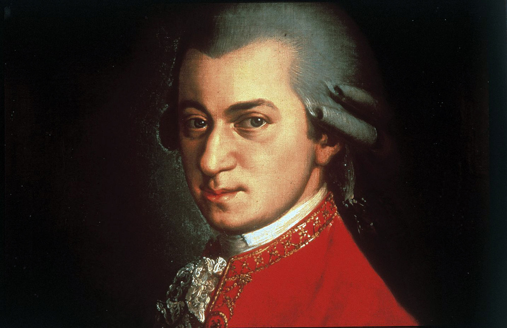 Portrait of Wolfgang Amadeus Mozart circa 1780 painted by Johann Nepomuk della Croce. GETTY IMAGES/Universal History Archive.
